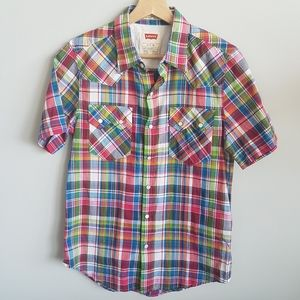 Levi's Button Down Short Sleeve Blouse Size Small